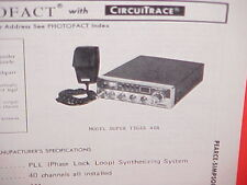 1978 PEARCE-SIMPSON CB RADIO SERVICE SHOP MANUAL MODEL SUPER TIGER 40A