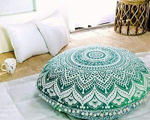 Boho Indian Mandala Floor Pillow Cover Meditation Floor Cushion Cover Pouf Cover