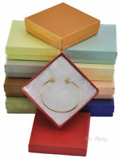 """LOT OF 10 MIXED COTTON FILLED BOXES JEWELRY GIFT BOXES BRACELET BOXES 3.5""""x3.5"""""""