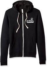 Twitch Logo Unisex Full Zip Hoodie Black Small