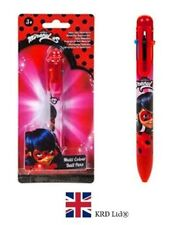 MIRACULOUS LADY BUG MULTI COLOUR PEN Jumbo Retractable Ballpoint Click Kids Gift