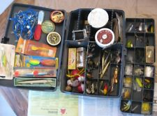 Plano Magnum Over & Under Tackle Box With Over Sixty (60) Fishing Lures, Reels,