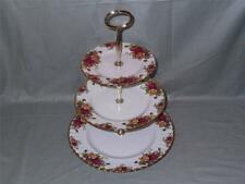 Royal Albert Old Country Roses 3-Tier Hostess CAKE STAND (secondi)