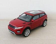 Land Rover Range Rover Evoque Die Cast Model Car Scale 1:38 - Burgundy NEW