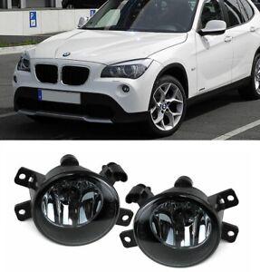 BMW E84 X1 09-15 pair black smoke smoked fogs fog foglights foglamps UK