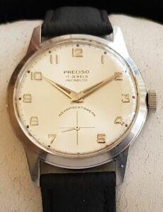 Vintage Armbanduhr Preciso in Edelstahl – Handaufzug - Cal. AS 1130