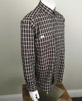 Cabelas Outfitters Mens Sz Large Long Sleeve Shirt Button Up Plaid NWOT
