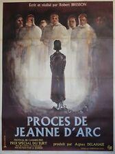 """""""PROCES DE JEANNE D'ARC"""" Affiche originale entoilée (Robert BRESSON)"""