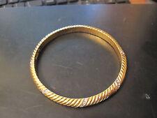 Nina Ricci Paris Bracelet  Beautiful Gold Tone with Stones - Signed
