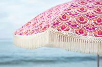 "Vintage Feel Cute Beach Umbrella by beachBRELLA® 60""round 100%UV"