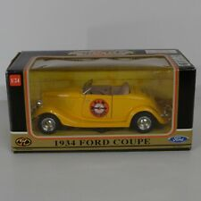 A&W Root Beer 1/24 Diecast Car 1934 Ford Coupe Motormax Collectors Rootbeer Sign