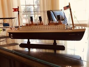 RMS Titanic Wooden Model, 13 Inches, Historic Moments
