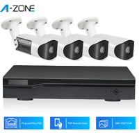 A-ZONE 8CH 5MP NVR POE Security Camera System Audio Record CCTV Surveillance Kit