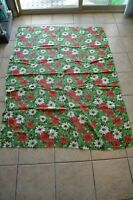 Vintage Poinsettia Christmas Tablecloth Home Decor Dining Entertaining Linen