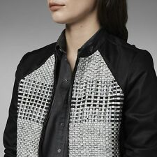 VESTE FEMME CUIR LEATHER G-STAR MARRINGTON JACKET  WMN TAILLE  M   PRICE  600€