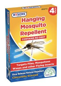 Mosquito Repellent - Convenient Hanging Unit Pack Of 4 Citronella Scent, FlyTrap