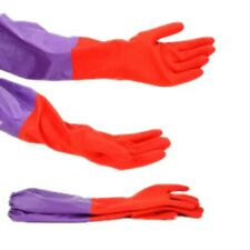 Waterproof Household New Kitchen Cleaning Dish Washing Long Large Rubber Gloves