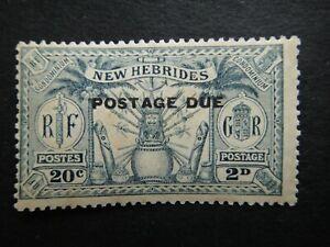 GB New Hebrides British 1925 Stamps MNH Overprint Native Idols UK POSTAGE DUE ST