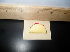 NEW! HARD SHELL TACO MEAT LETTUCE TOMATO BUTTON PIN RETRO LAPEL HAND PAINTED