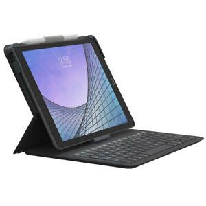 Zagg Bluetooth Messenger Folio 2 Keyboard Case for iPad Air 3/7th/8th Gen Black