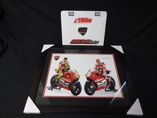 Ducati Corse Valentino Rossi #45 Nicky Hayden #69 Team Ducati 2012 22x18 framed