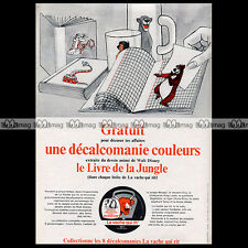 LA VACHE QUI RIT Fromage 'Livre de la Jungle Book' DISNEY 1968 - Pub Ad #A1203