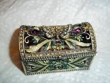 Trinket Box Antique look Butterfly on Top