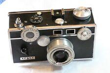 Argus C3 Colormatic Brick Range Finder 35mm Film Camera & Cowhide Leather Case