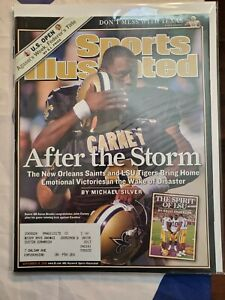 Sports Illustrated Back Issue September 19, 2005 John Carney After The Storm