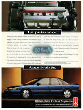 1993 OLDSMOBILE Cutlass Supreme Vintage Original Print AD Blue car photo Engine
