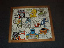 Vintage 1980's Sesame Street Double Sided ChalkBoard & Magnetic Counting Board *