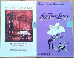 Individual Manchester Opera House programmes 1960s, theatre programme