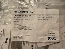 AFL FAST-SC-SMAU-60 SingleMode 0.9mm / 0.25mm fiber optic connection Lot of 60