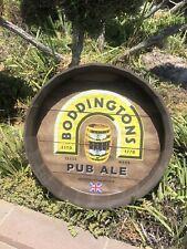 Boddingtons Pub Ale Britain Beer Bar 21� Barrel Round Wood Sign Mirror