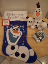 Disney Frozen Olaf Bundle/2 Snowgies~Disney Store Authentic + Olaf Stocking~Nwts