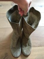 JIMMY CHOO Flat Suede Shearling Rabbit Fur Lined Boots EU 39 US 8.5 9 UK 6 6.5