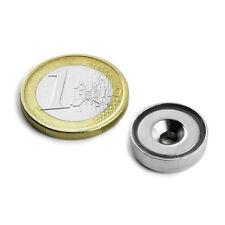 Super Magnete al Neodimio CSN-16 POTENZA 4 Kg FORO SVASATO + BASE IN ACCIAIO