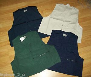 Mens Waistcoat - Fishing Shooting Hunting - Zipped Pocket - Medium & Large