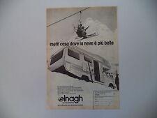 advertising Pubblicità 1979 AUTOCARAVAN CARAVAN ELNAGH
