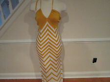 bebe chevron stripe halter dress m new reg.$109    #448