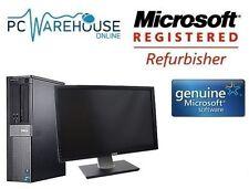 """Dell Intel Core I3 Windows 10 Desktop Pc 8 Gb  Dell 20 """" Widescreen 240 Gb Ssd"""