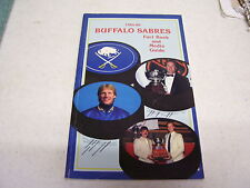 NHL BUFFALO SABRES 1985-1986 FACT BOOK MEDIA GUIDE YEARBOOK GREAT COND!