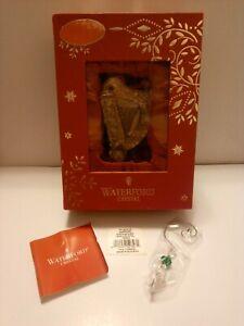 🎄 Waterford 2014 Gold Harp Ornament W/ Enhancer 164964 Lead Crystal MSRP$75 NIB