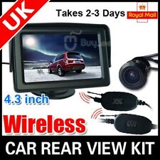 "WIRELESS CAR REAR VIEW KIT 4.3"" TFT LCD MONITOR + CAR REVERSING CAMERA"