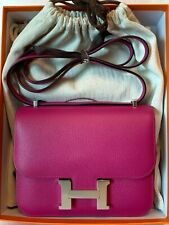 HERMÈS CONSTANCE 18 ROSE POUPRE EPSOM W/ PHW, NEW WITH BOX