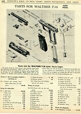 1963 Print Ad of Walther P38 P-38 Auto Pistol Parts List