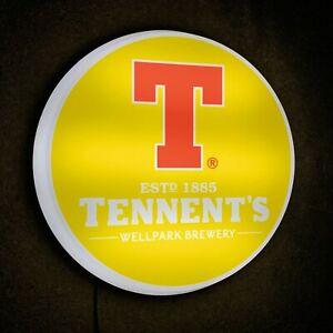 TENNENTS light up led bar sign drinks logo Pub beer ale man cave garage shed