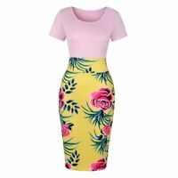 Women's Elegant Office Formal Bodycon Business Sheath Dress Pencil Dresses
