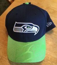 New NFL Seattle Seahawks New Era 39Thirty Sideline Flex Cap/Hat Medium/Large