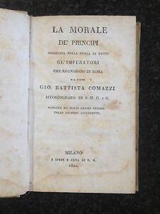 LA MORALE DE' PRINCIPI... ROMA - Gio. Battista Comazzi - 1810